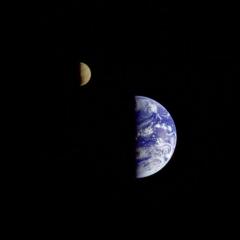 Erde und Mond