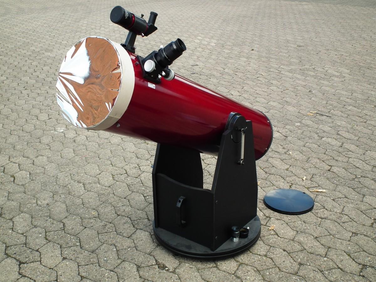 bauanleitung: sonnenfilter für das teleskop mit folie selber bauen